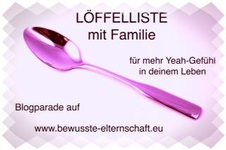 Löffelliste mit Familie, Blogparade