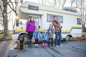 Mareen Famile auf Kurs