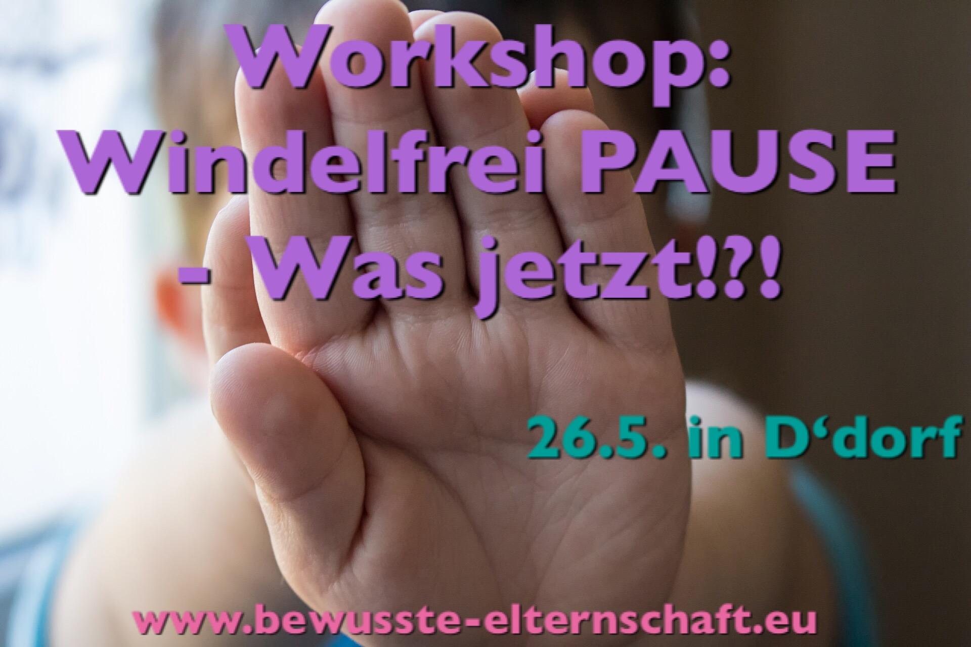 Windelfrei Workshop Windelfrei Pause